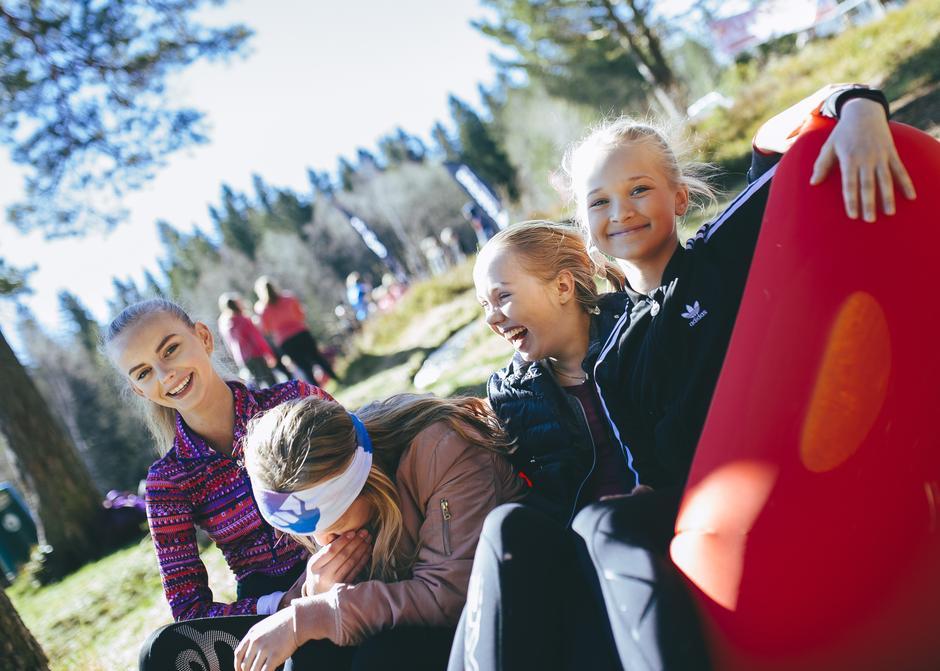 Chill ved Landfalltjern i Drammensmarka