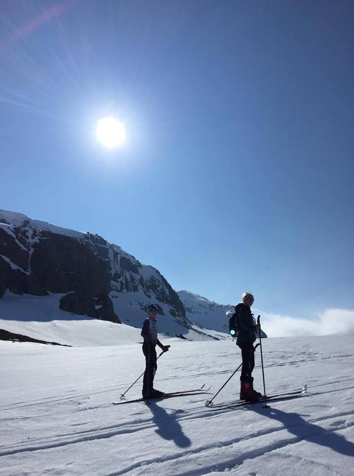 Fine forhold på vei opp til Snønuten fra Jonstølen.