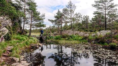 Siglingevatn på Askøy, med Johan Anders Vik, juli 2019