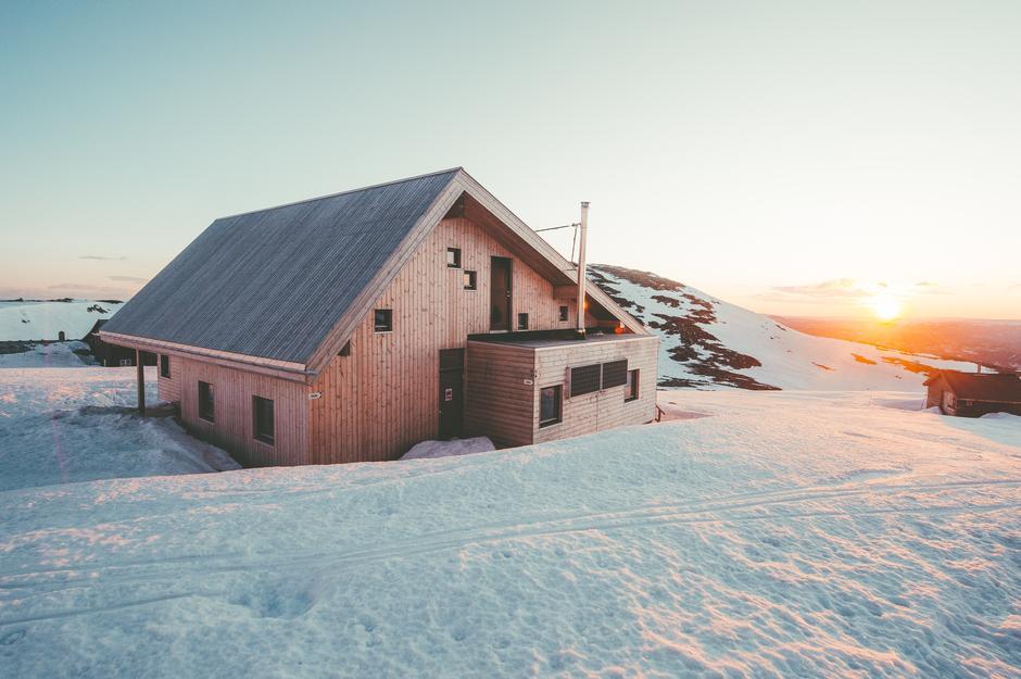 Høgevarde en nydelig vinterdag.