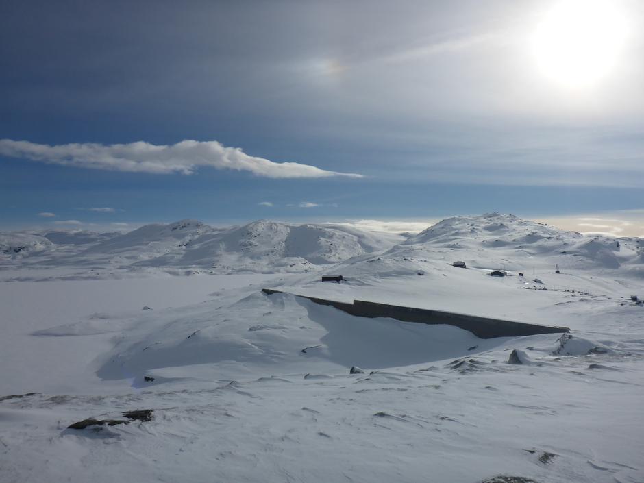 Lørdag 4.3: Torfinnsheim ved Gråsidefjellet i Voss. Nås lettest fra Hodnaberg i Bergsdalen