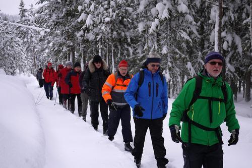 Turgruppa Ut på tur Modum på vintervei.
