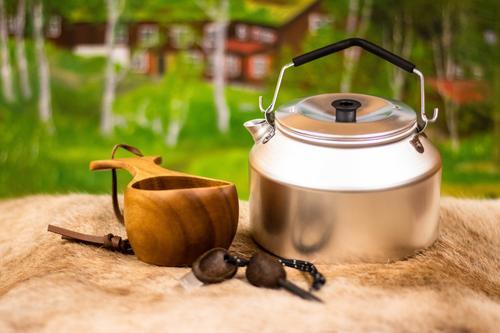 Kaffekjele, trekopp og tennstål