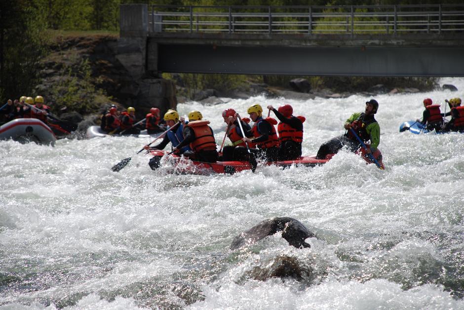 Rafting med Explore Skjåk i Dyringen ved Sota Sæter