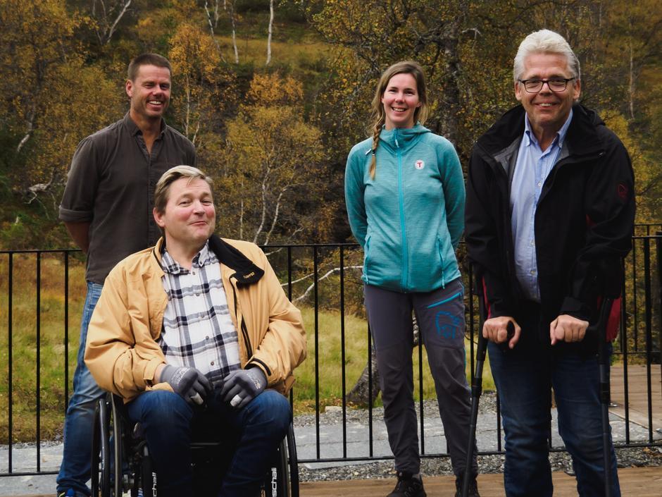 Frå venstre: Johnny Bjørge (BHT), Øystein Nesse (LARS Hordaland), Sigrid Kvåle Myksvoll (BHT) og Bjørn Greve (FFO Bergen)