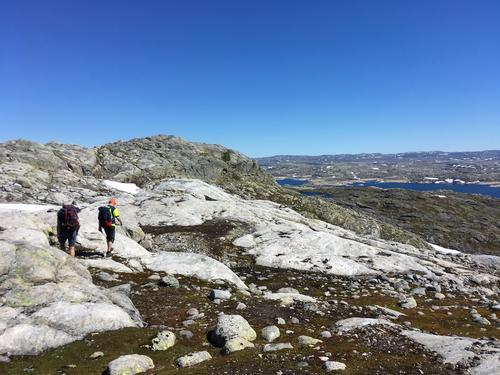 Turen går i ope høgfjellsterreng  med vide utsyn