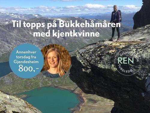 Topptur med kjentkvinne til Bukkehåmårn (1010 moh)