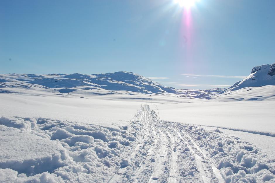 Flotte skiforholdet på fjellet