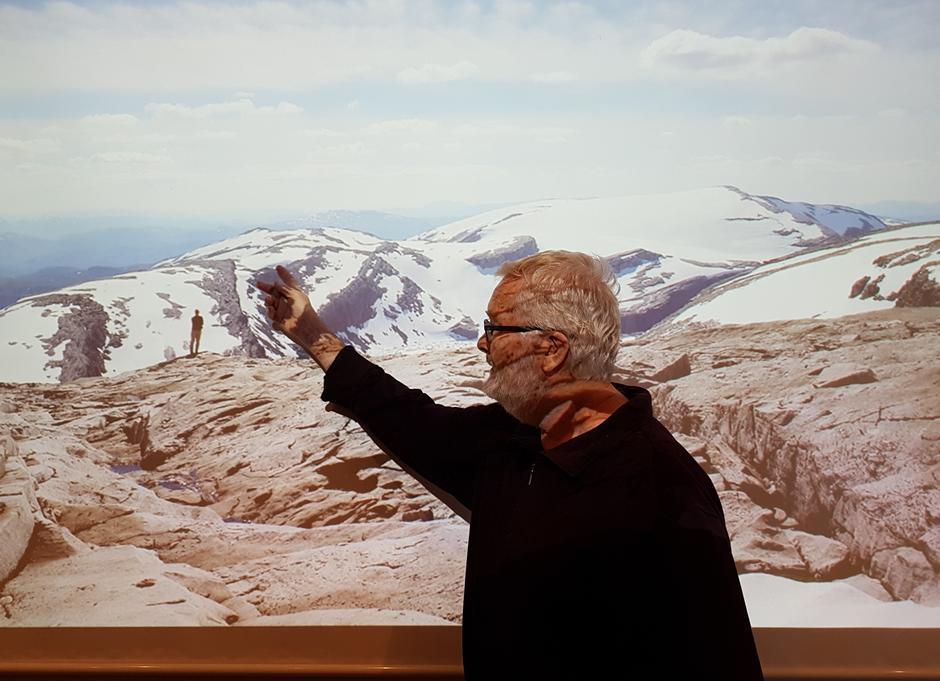 Alvar Melvær tok oss med inn i fortida og arbeidet med naturvernarbeidet i SFT regi.