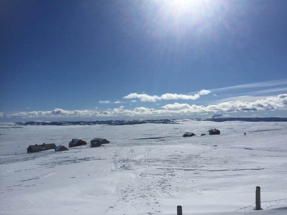 Flott utsyn over Langsua fra Storeskag. Bildet er tatt 23. mars 2017.