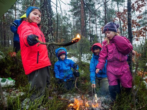 Barnas Turlag Kragerø lot seg ikke skremme av regnet