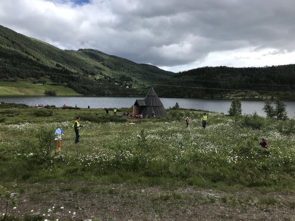 Området rundt Alexander Grieghytten er et eldorado for barnefamilier.