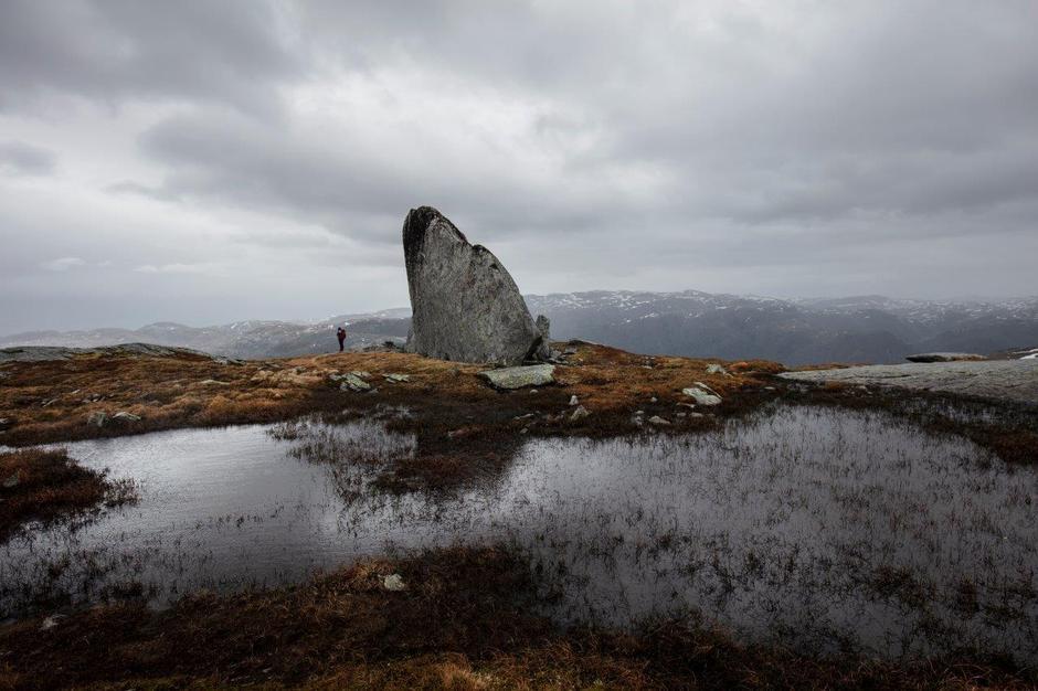 """""""Myrsetkjerringa"""" er 9 meter og sees fra Breidablik."""