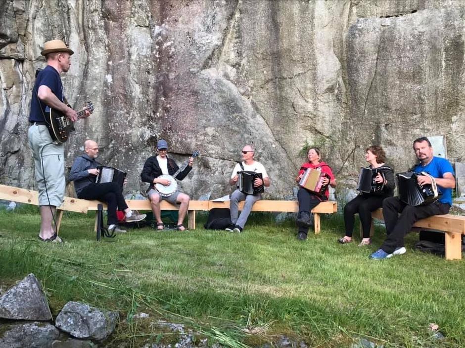 Toradergjengen Knapp. De skal spille på Sankefestivalen 26.6.