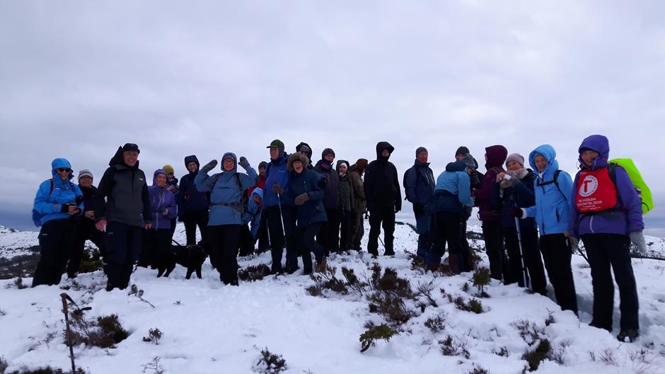 På Ebbesvikfjellet, starten av turen