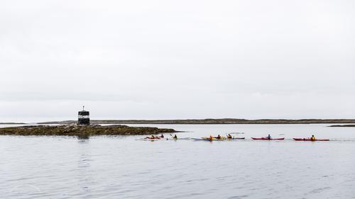 Kayakpadling i Støttværet