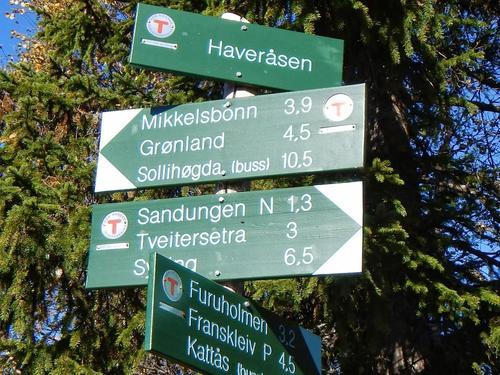 Skilt i Vestmarka