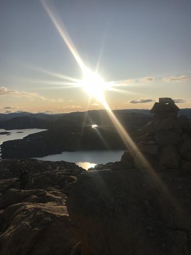 Solnedgang fra Raudberget