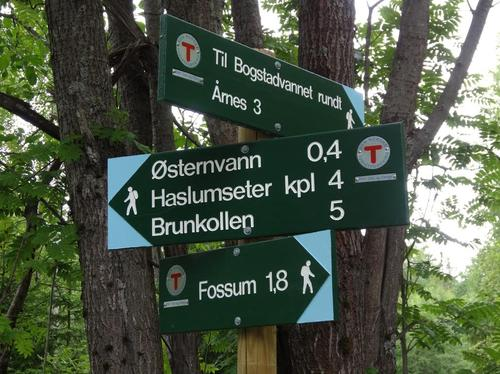 Skilt i Bærumsmarka