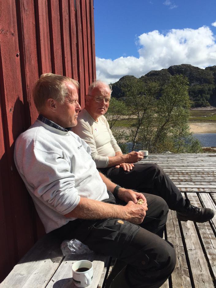 Kåre Pedersen og Bjørn Brandtzæg er sentrale frivillige i prosjektet.