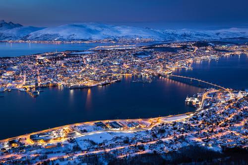 Tromsø by night fra Fjellhytta