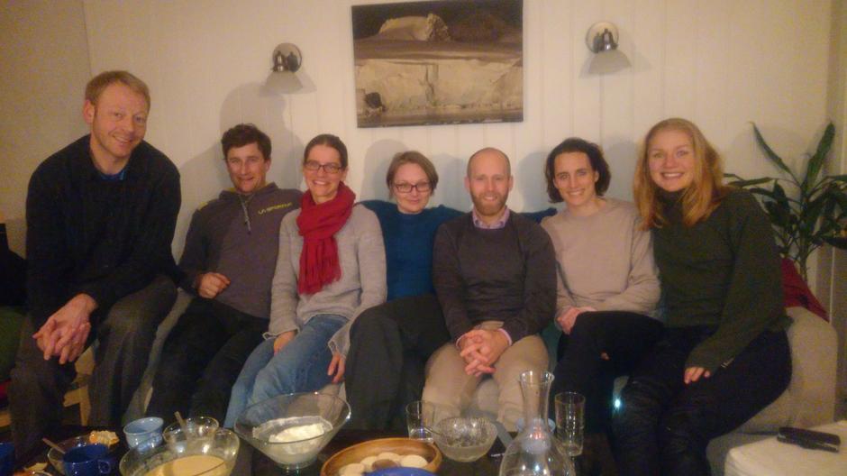 Ressursgruppen i DNT fjellsport Bergen. F.v. Njål, Adam, Selina, Berit, Thomas, Marion, Vilde