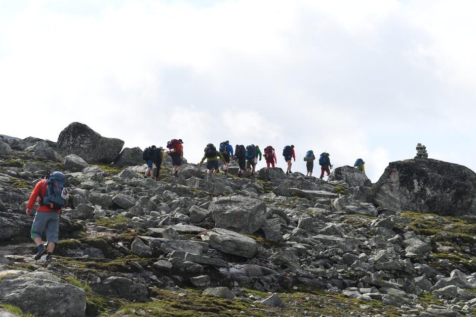 På vei opp Tungerøten