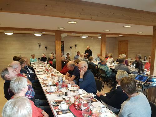 Seniorgruppa med avslutning av turåret 2018 - juleavslutning