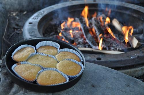 Muffins ved bål