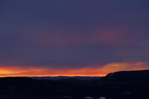 Solnedgang fra Kolsåstoppen.