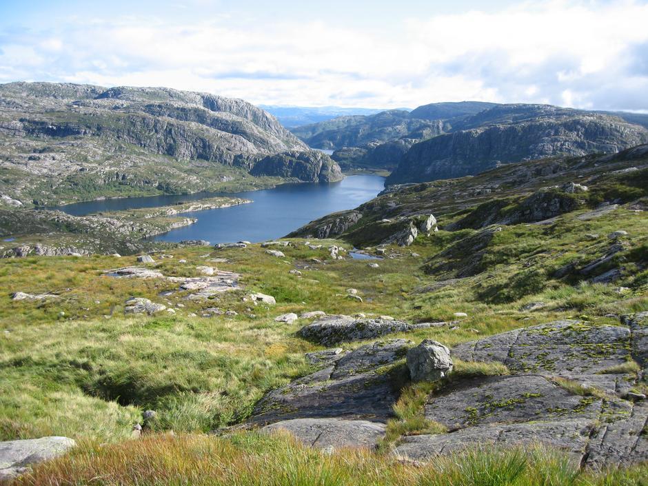 Utsikt på turen fra Nordkvingo til Kalvedalen