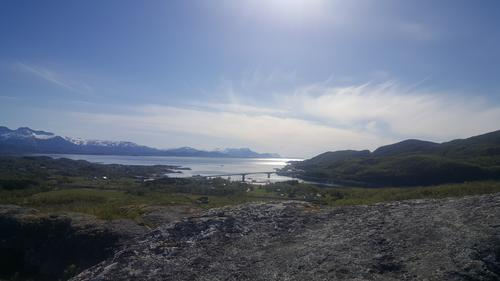 Tverlandsbrua. Saltenfjorden. Juni 2019.