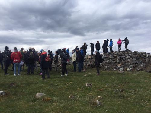 Vi hadde historisk vandring på Eldøya