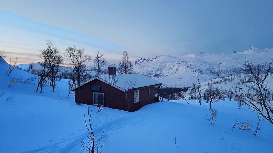 Vinterbilde av Senjabu