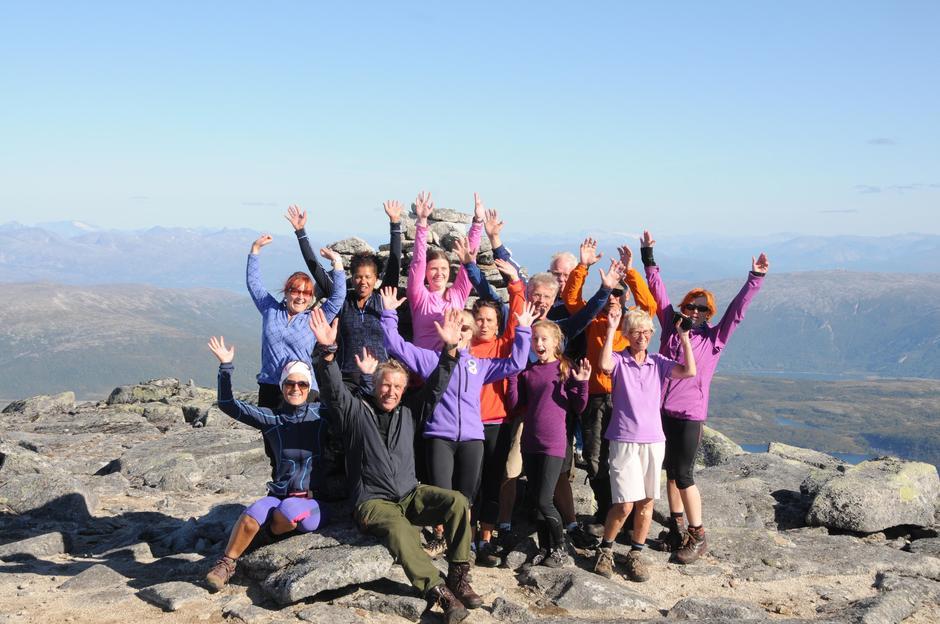 På toppen av Lurfjelltinden!