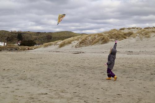 Friminutt med Stavanger Turistforening - Fly drage på stranden