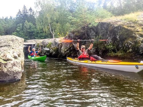 Padling i Vansjø; en populær aktivitet