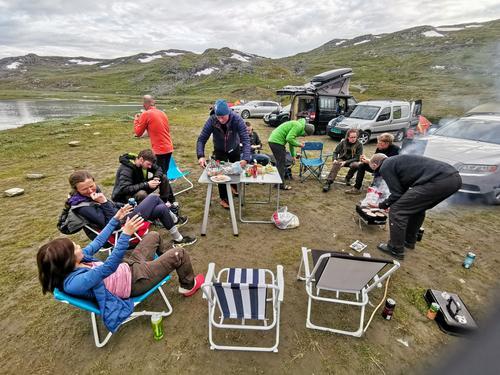 Teltcampen på Krossbu.