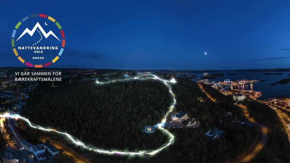 Ta med hodelykt og bli med i lyslenken opp Ekebergåsen 27. okt. - for FNs bærekraftsmål.