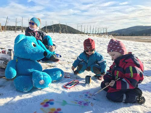 Lag et kunstverk i snøen!