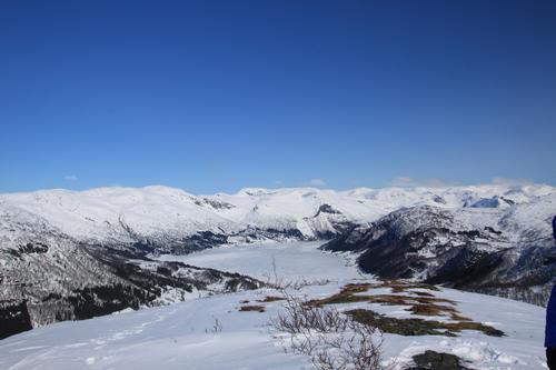 Utsikt fra Spelernova mot Haukedalsvatnet