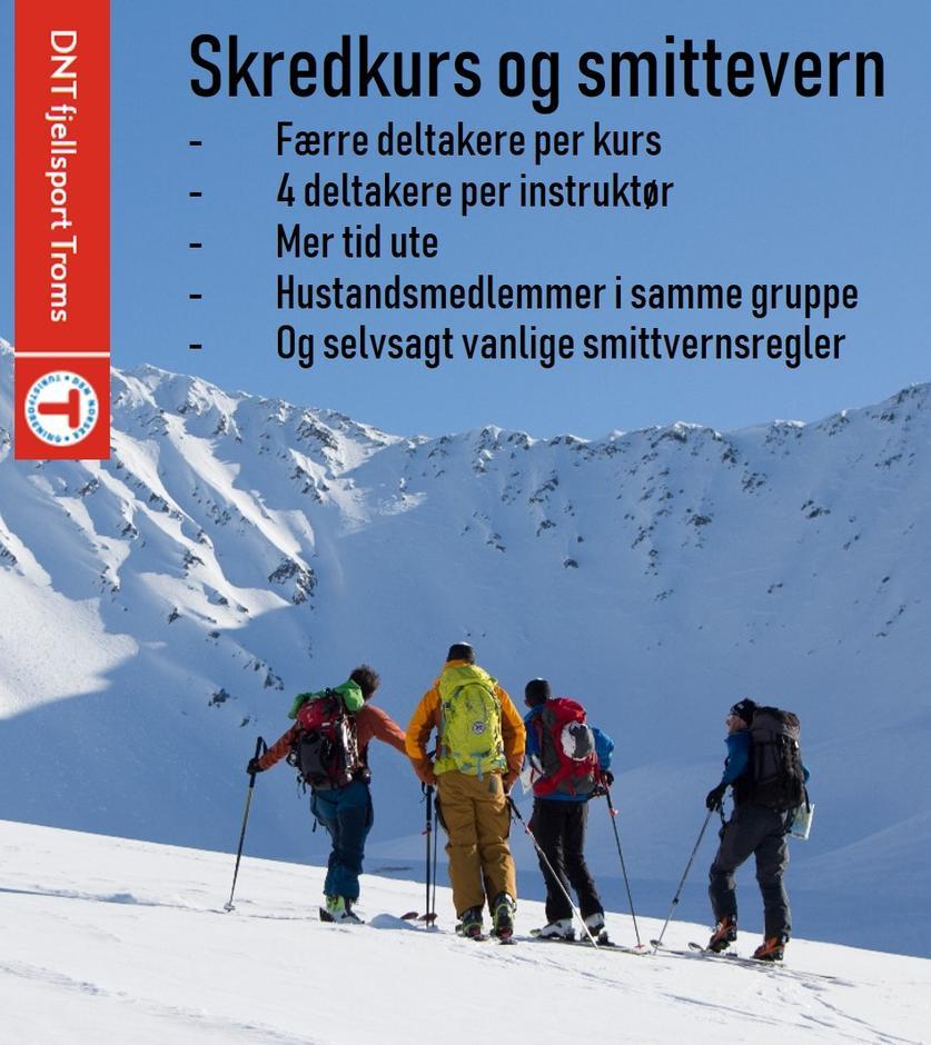 DNT fjellsport Troms tilpasser kursene så det blir enda tryggere å delta.