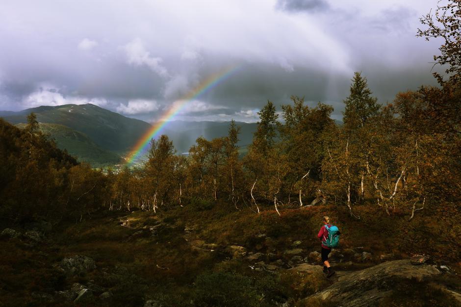 Regnbuen over Voss