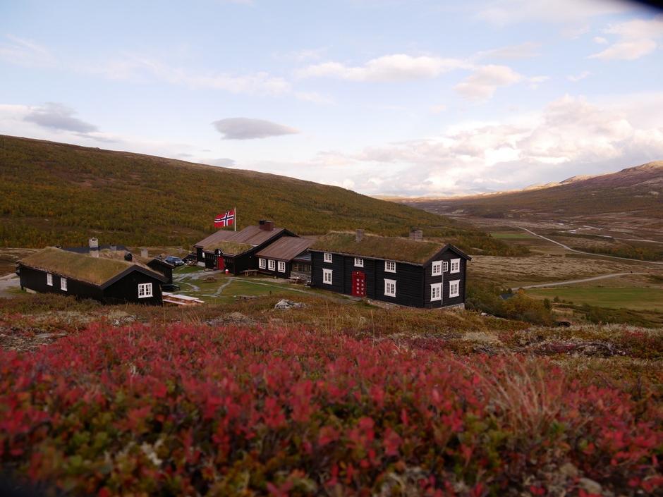 Fjellet i høstskrud - her fra Grimsdalshytta i Rondane.