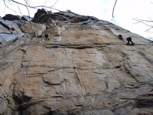 Teknisk klatring på Bolstadøyri