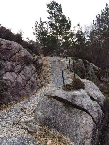 Turløype mot Fiskarneset