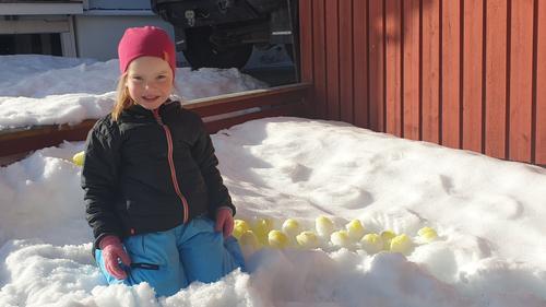 Påskegøy i snøen