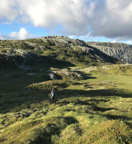 På vei ned Tulledalen