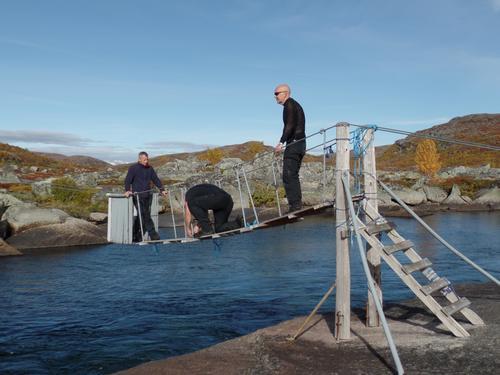 Hardangervidda vest - Her blir brua ved Hedlo tatt inn. Også broene ved Hadlaskard og Berastølen er nå tatt inn.