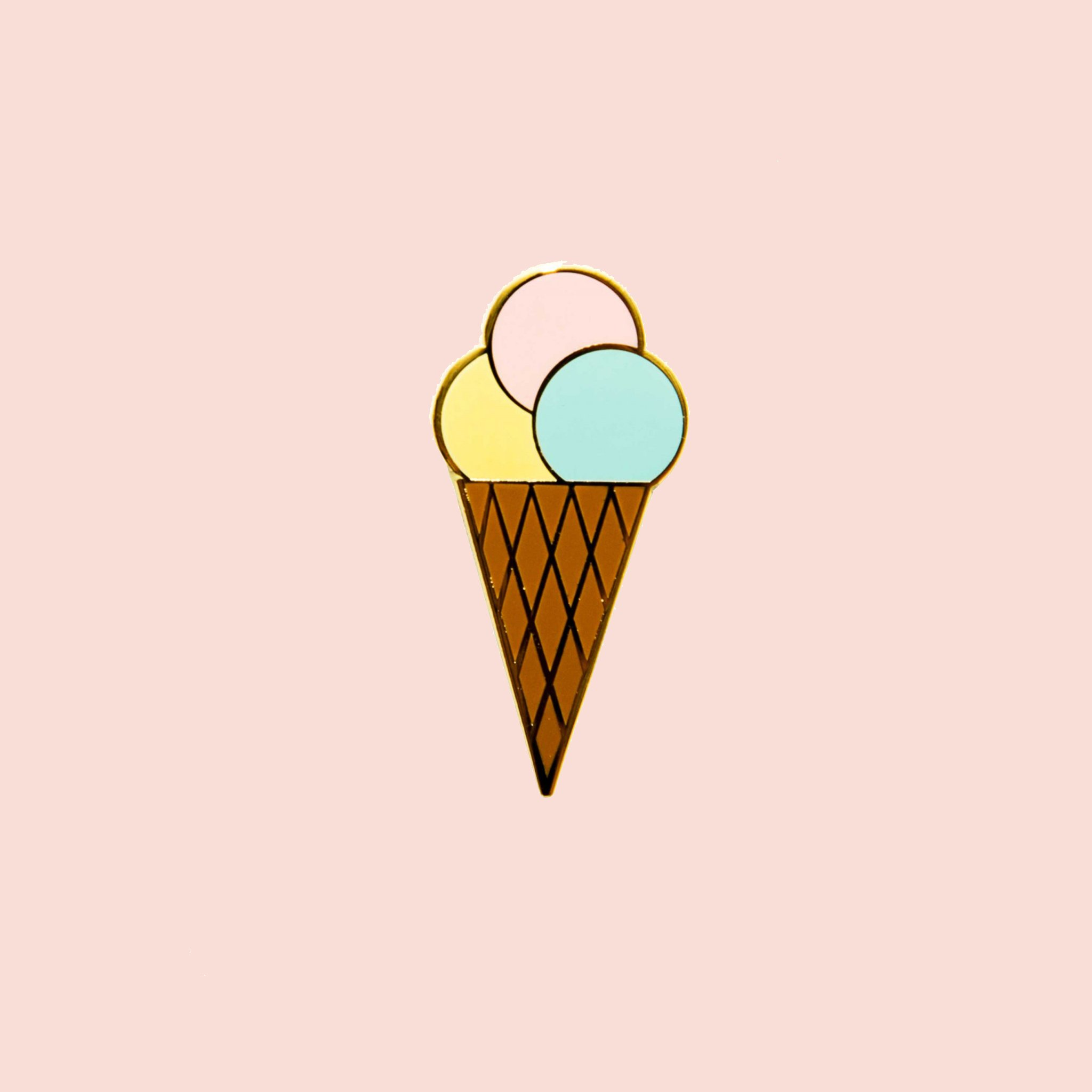 Ice Cream Enamel Pin